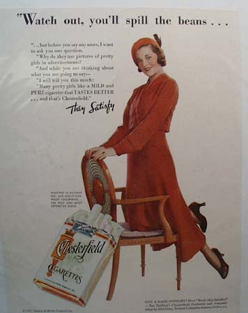 Chesterfield Watch Out Cigarette Ad 1932