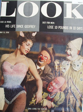Look Magazine Gina Joins the Circus 1956 Article