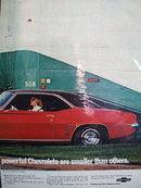 Chevrolet Truck And Camero Car 1968 Ad