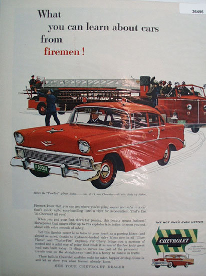 Chevrolet 210 Sedan Car 1956 Ad