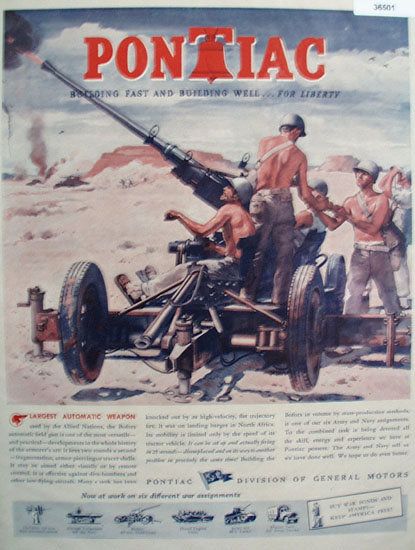 Pontiac Division of General Motors 1943 Ad