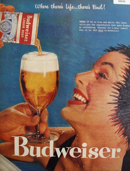 Anheuser Busch Inc. Budweiser 1957 Ad