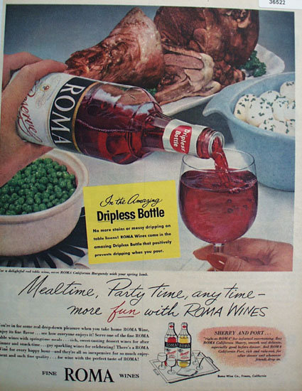 Roma Wines 1956 Ad