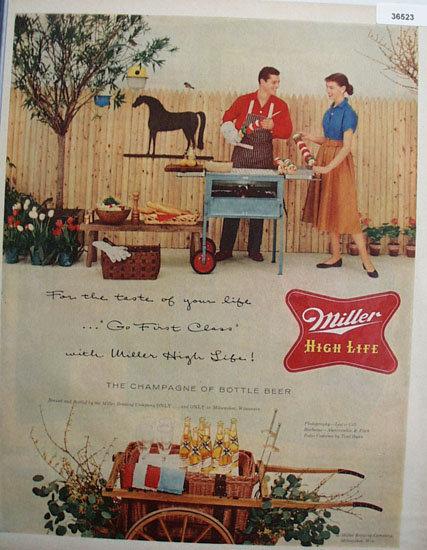 Miller High Life Beer 1956 Ad