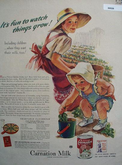 Carnation Milk 1943 Ad.