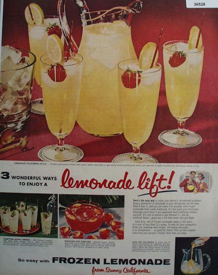 Frozen Lemonade 1956 Ad