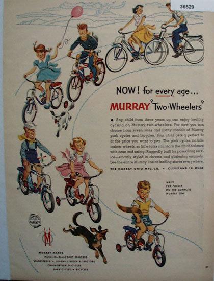 Murray Ohio Mfg. Co. Two Wheelers 1953 Ad