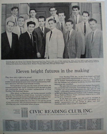 Civic Reading Club 1959 Ad