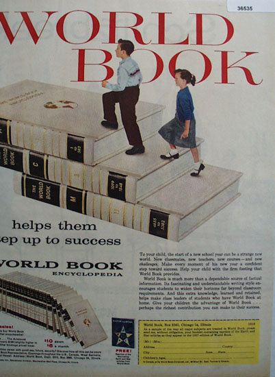 World Book Encyclopedia 1957 Ad