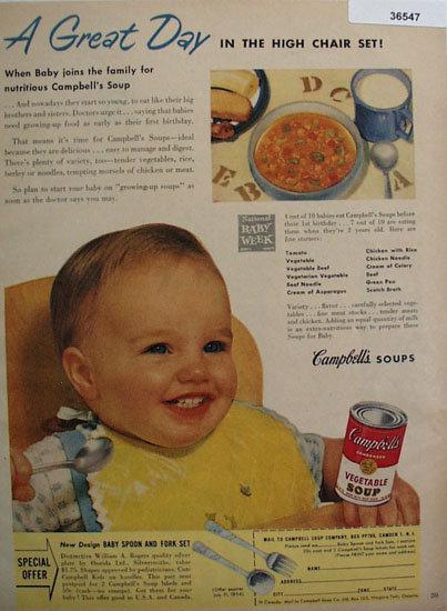 Campbells Vegetable Soup 1954 Ad