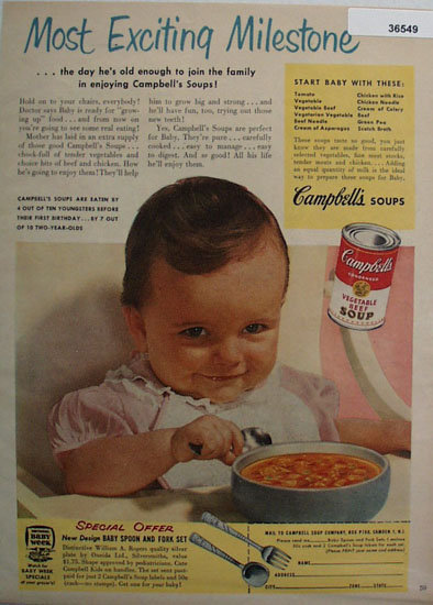 Campbells Vegetable Beef Soup 1953 Ad
