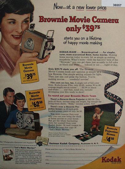 Kodak Brownie Movie Camera 1953 Ad