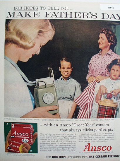 Ansco Great Year Camera 1956 Ad