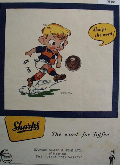 Sharps Toffee 1952 Ad