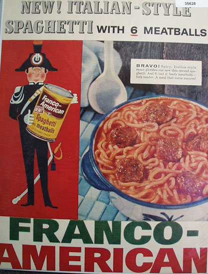 Franco American Spaghetti With Meat Balls 1956 Ad