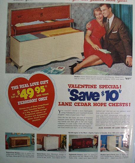 Lane Cedar Hope Chests 1955 Ad