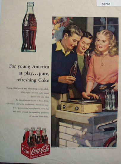 Coca Cola For Young America 1956 Ad
