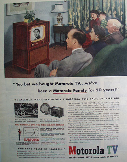 Motorola TV Anderson Family 1951 Ad