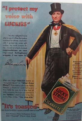 Lucky Strike Edmund Lowe Ad 1931