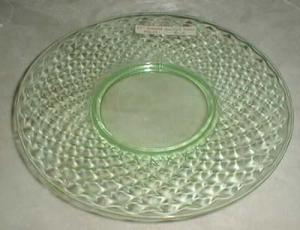 Imperial Diamond Quilted Salad Plate in Green