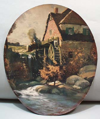 Oval print of Grist Mill