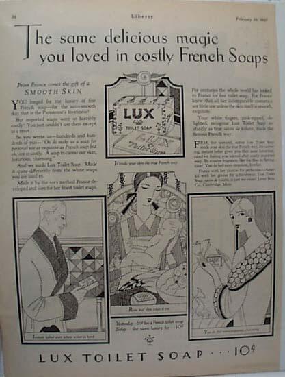 1927 Art Deco ad for Lux Soap