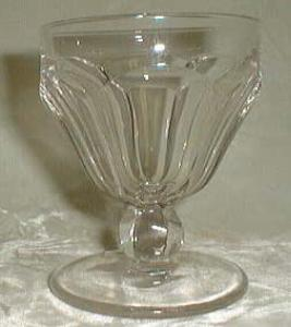 Heisey Colonial Low Goblet in Crystal