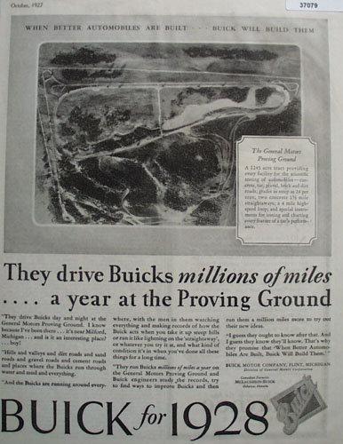 Buick Car 1927 Ad