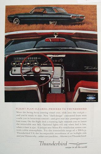 Thunderbird Car 1963 Ad