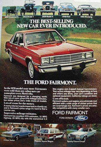 Ford Fairmont Car 1978 Ad