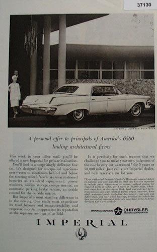 Chrysler Imperial Car 1963