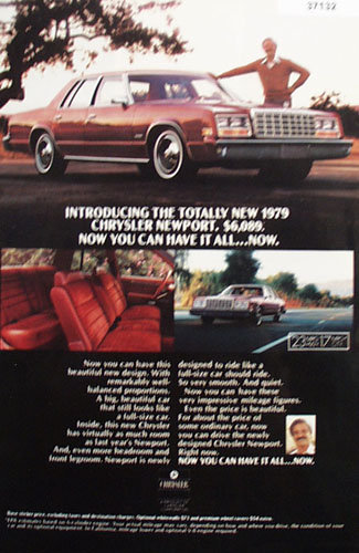 Chrysler Newport Car 1978 Ad
