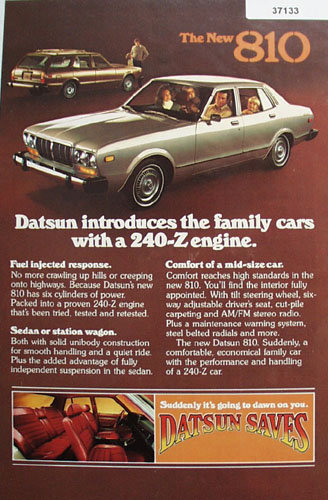 Datsun 810 Car 1977 Ad