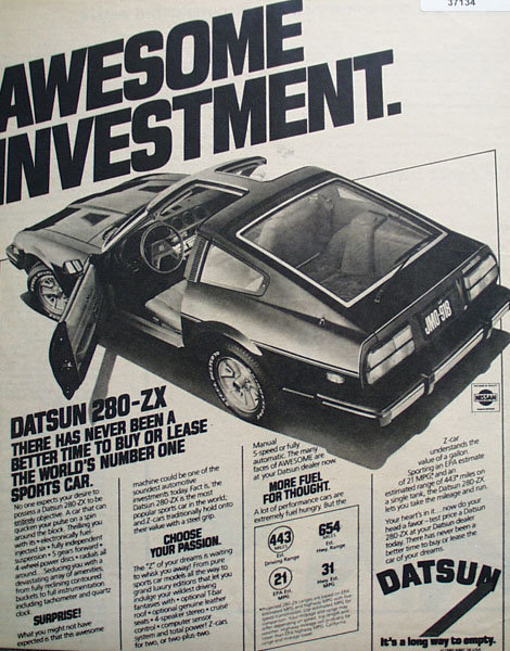 Datsun 280-ZX Car 1980 Ad