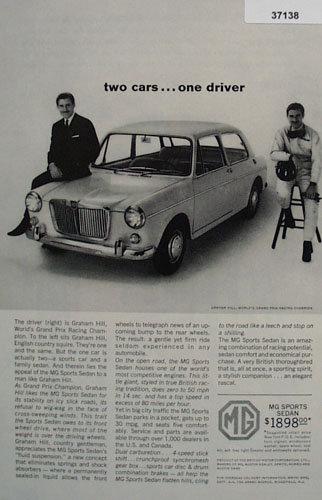 MG Sports Sedan Car 1963 Ad