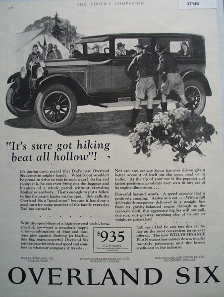 Willys Overland Six Car 1926 Ad