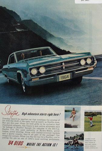 Oldsmobile Starfire Car 1964 Ad.