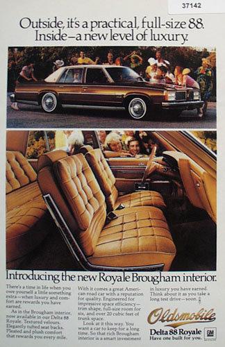 Oldsmobile Delta 88 Royale car 1978 Ad
