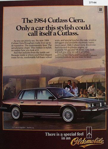 Oldsmobile Cutlass Ciera Car 1983 Ad