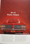 Pontiac Bonneville And Tempest Car 1963 Ad