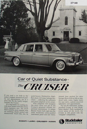 Studebaker Cruiser Car 1963 Ad