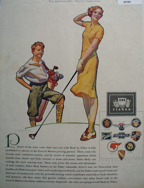 Body By Fisher 1930 Ad.