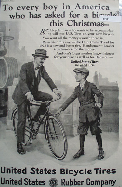 United States Rubber Co. Bicycle Tires 1922 Ad