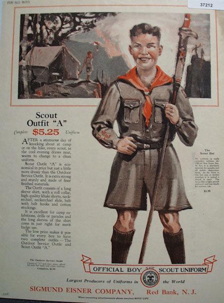 Official Boy Scout Uniform 1926 Ad