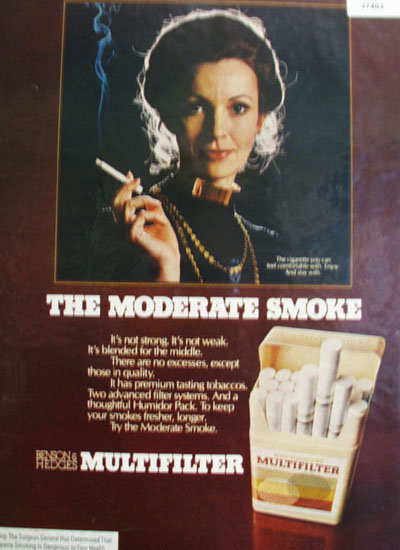 Benson And Hedges Cigarettes 1972 Ad