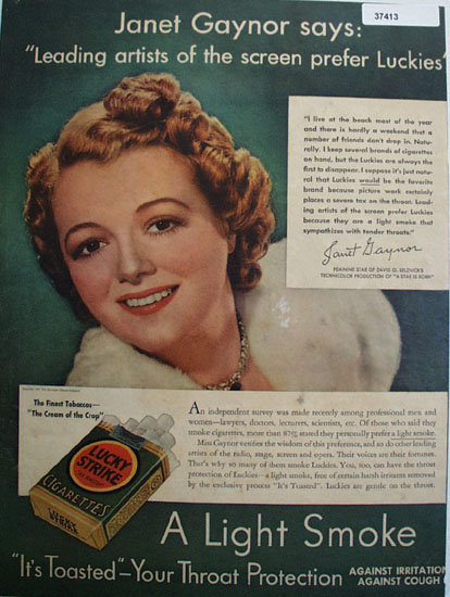 Lucky Strike Cigarettes 1937 Ad
