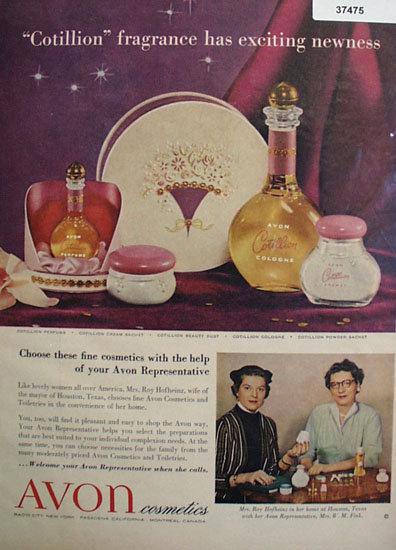 Avon Cosmetics 1954 Avon Representative Ad