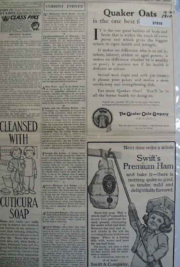 Quaker Oats And Swifts Premium Ham 1910 Ad