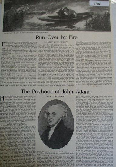American Boy President John Adams 1912 Article