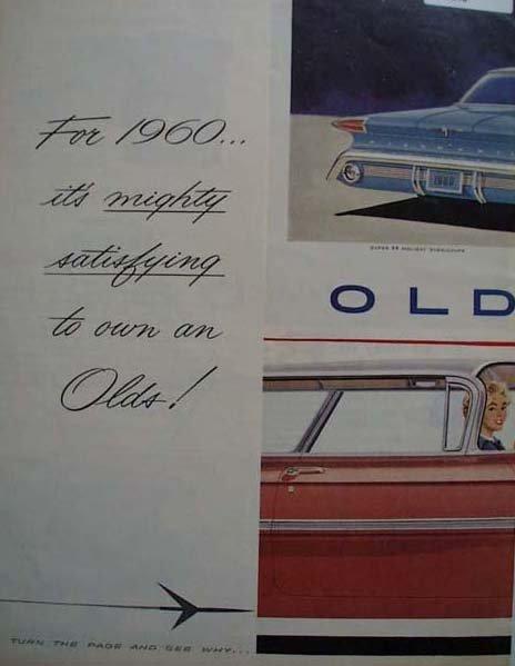 1960 Oldsmobile car 1959 Ad